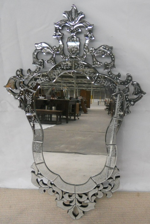 Large Venetian Style Ornate Hanging Wall Mirror Sold